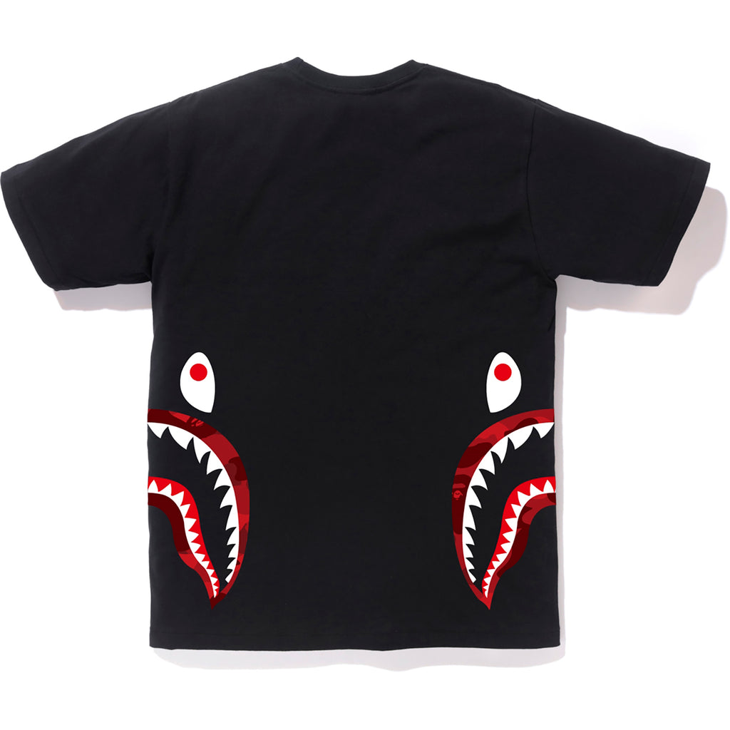 COLOR CAMO SIDE SHARK TEE MENS
