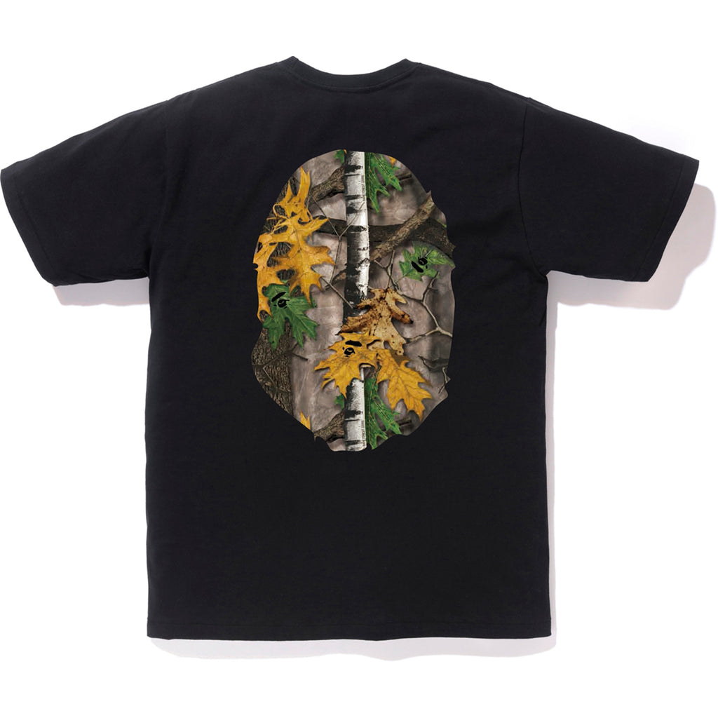 BAPE FOREST CAMO BIG APE HEAD TEE MENS