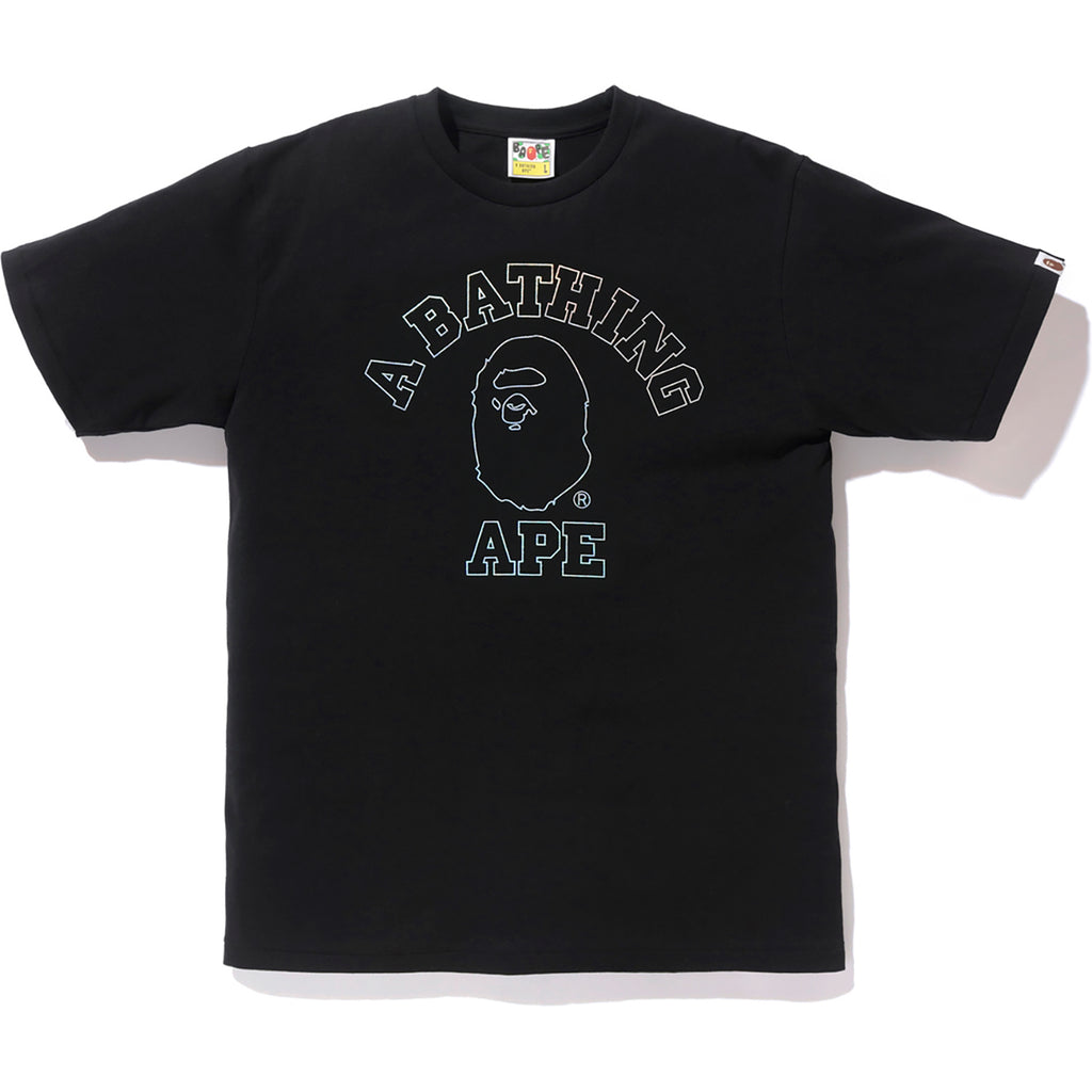 47c8c10a6 HOLOGRAM COLLEGE TEE MENS | us.bape.com