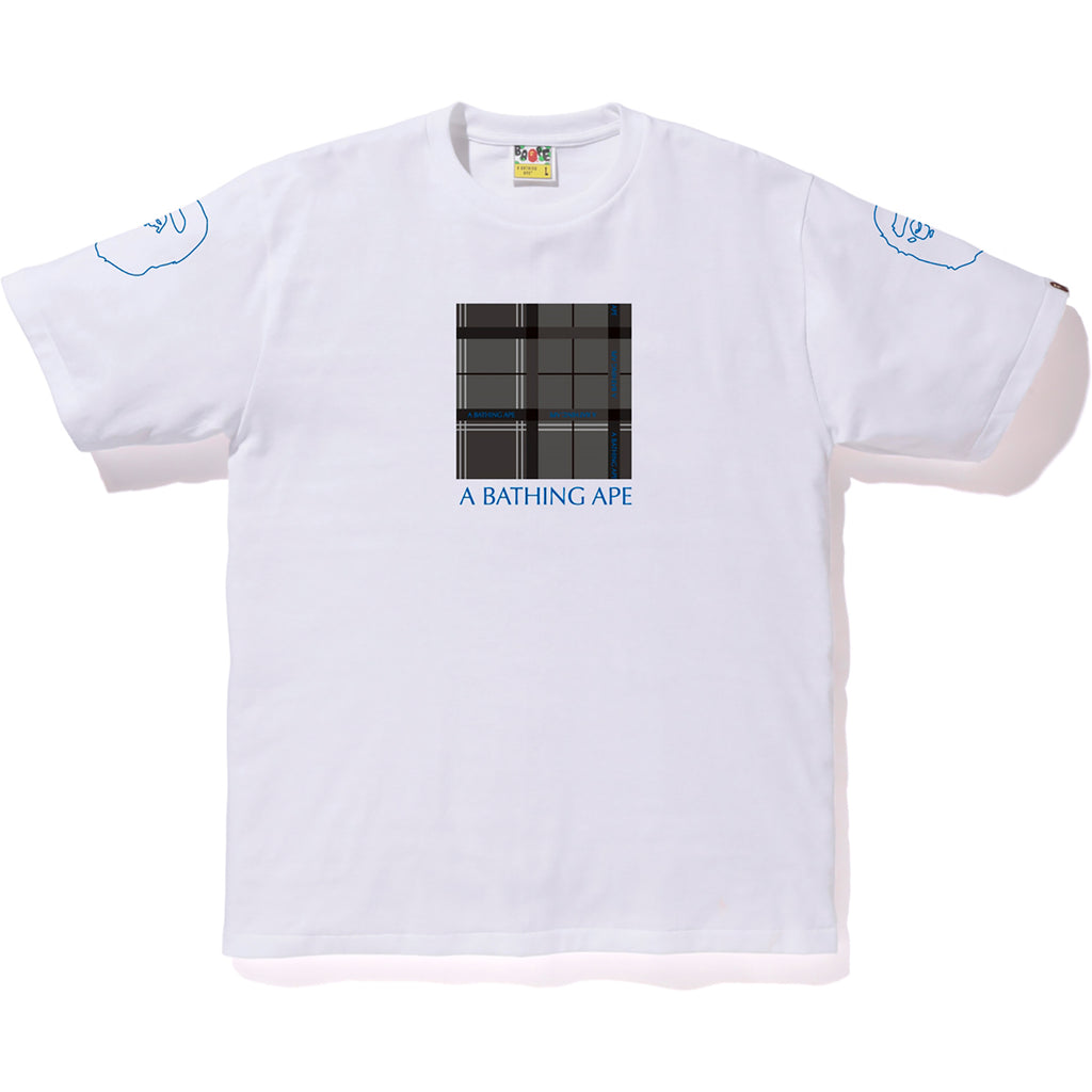 BAPE LOGO CHECK BOX TEE MENS