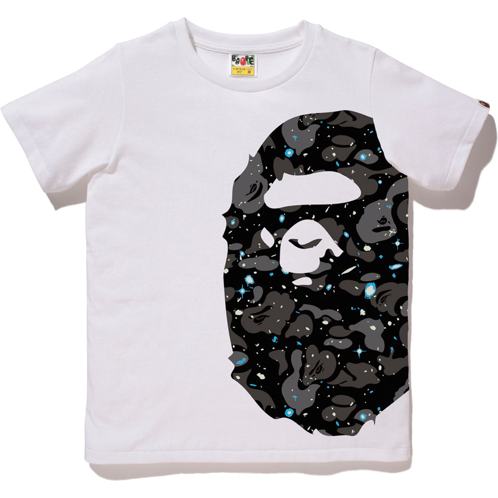 SPACE CAMO SIDE BIG APE HEAD TEE LADIES