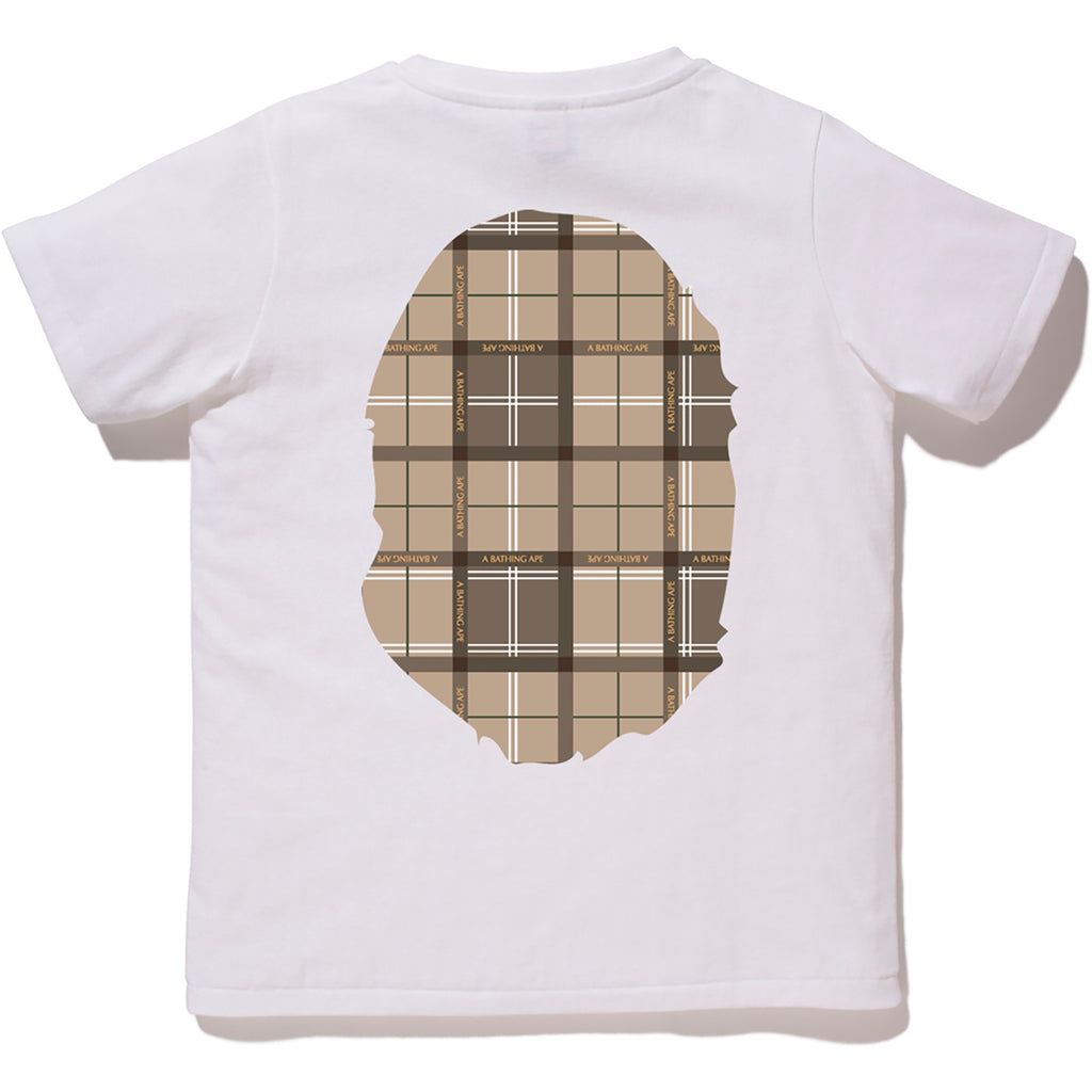 BAPE LOGO CHECK BIG APE HEAD TEE LADIES