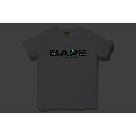 SPACE CAMO BAPE LOGO TEE LADIES