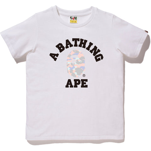 PASTEL MULTI CAMO COLLEGE TEE LADIES