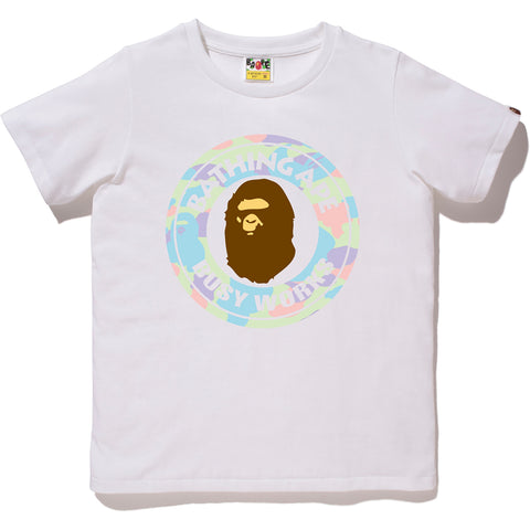 PASTEL MULTI CAMO BUSY WORKS TEE LADIES