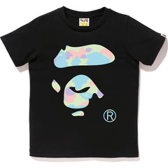 PASTEL MULTI CAMO APE FACE TEE LADIES