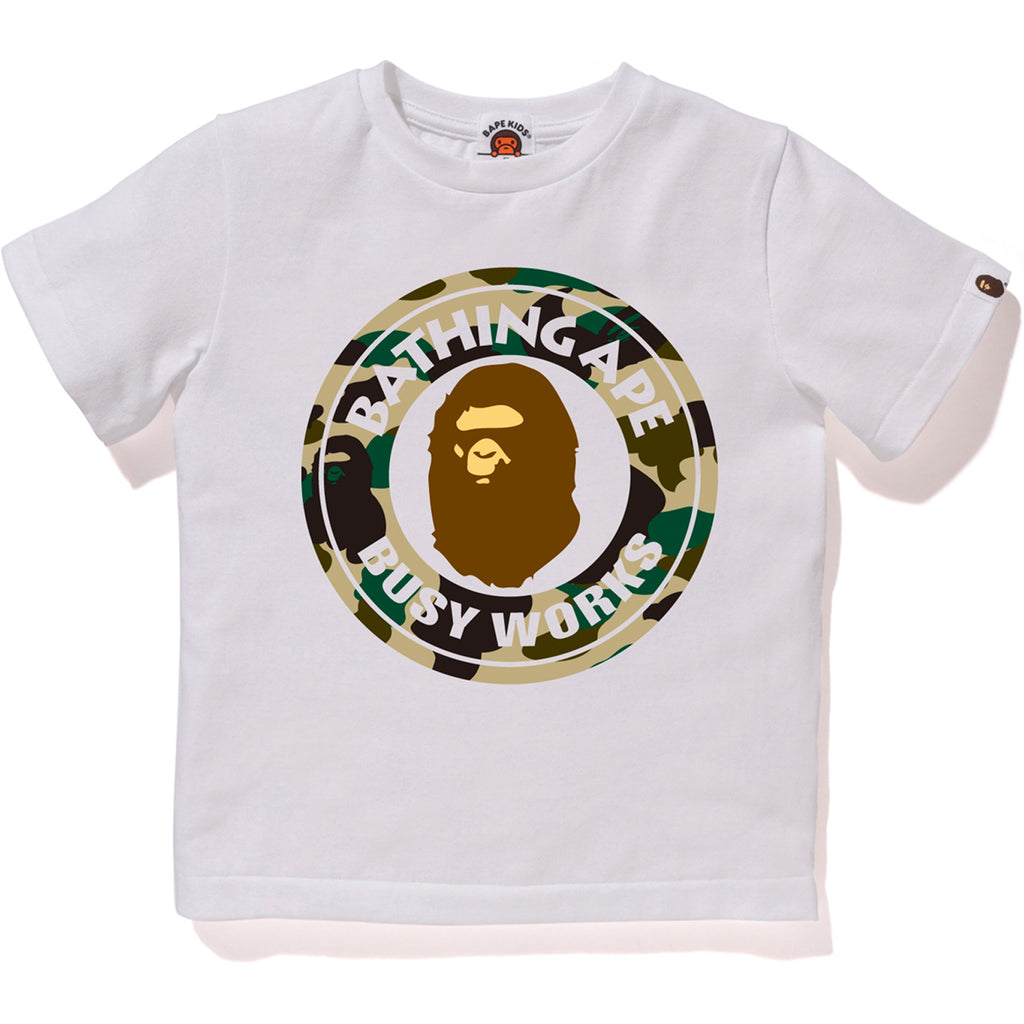 d03f111dd 1ST CAMO BUSY WORKS TEE KIDS | us.bape.com