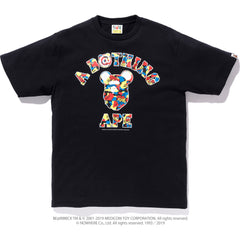 MEDICOM TOY CAMO COLLEGE TEE MENS