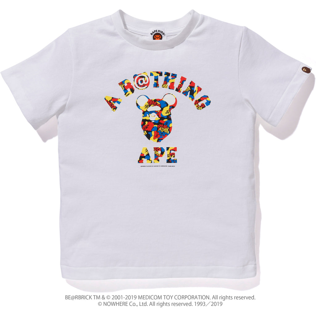 MEDICOM TOY CAMO COLLEGE TEE KIDS