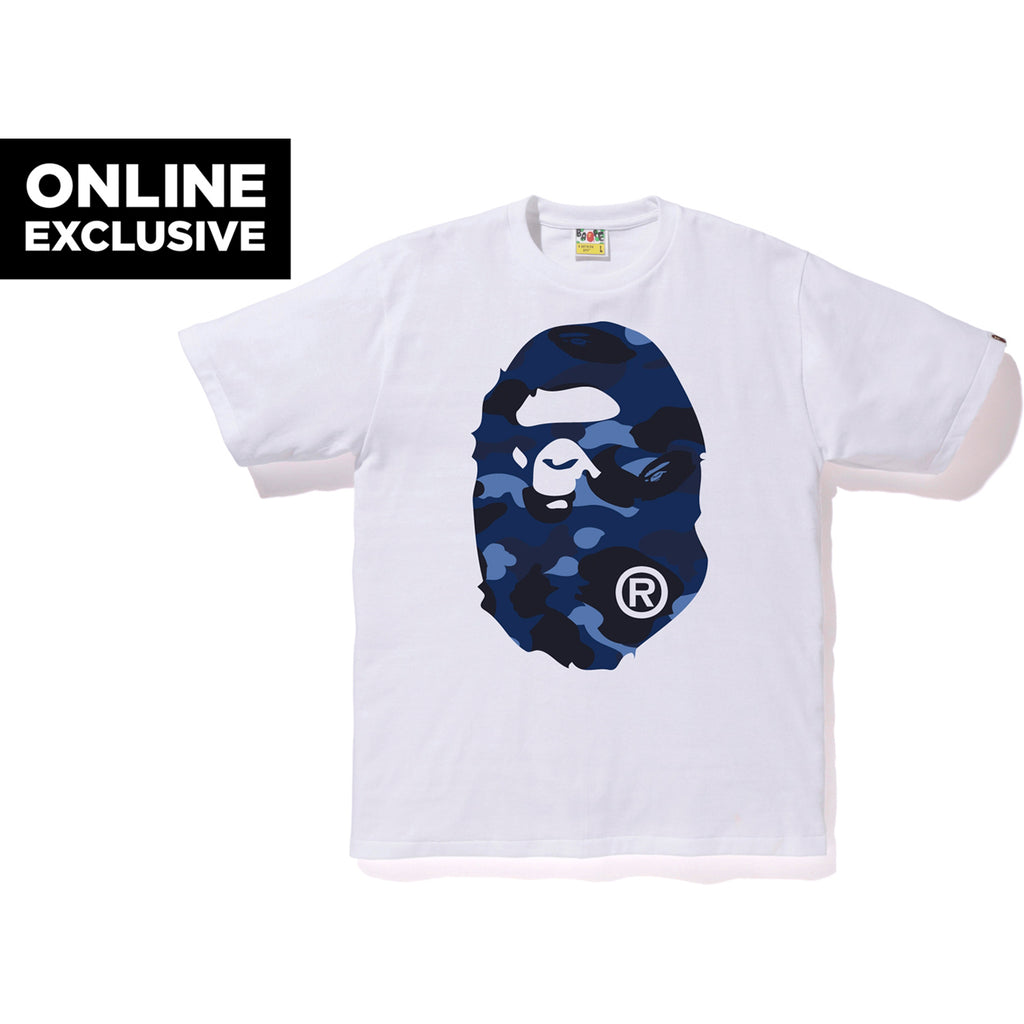COLOR CAMO BIG APE HEAD TEE M BAPEC MENS