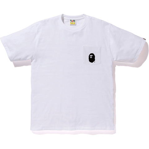 APE HEAD POCKET TEE MENS