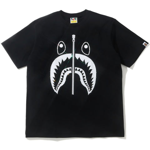 CRYSTAL STONE SHARK TEE MENS