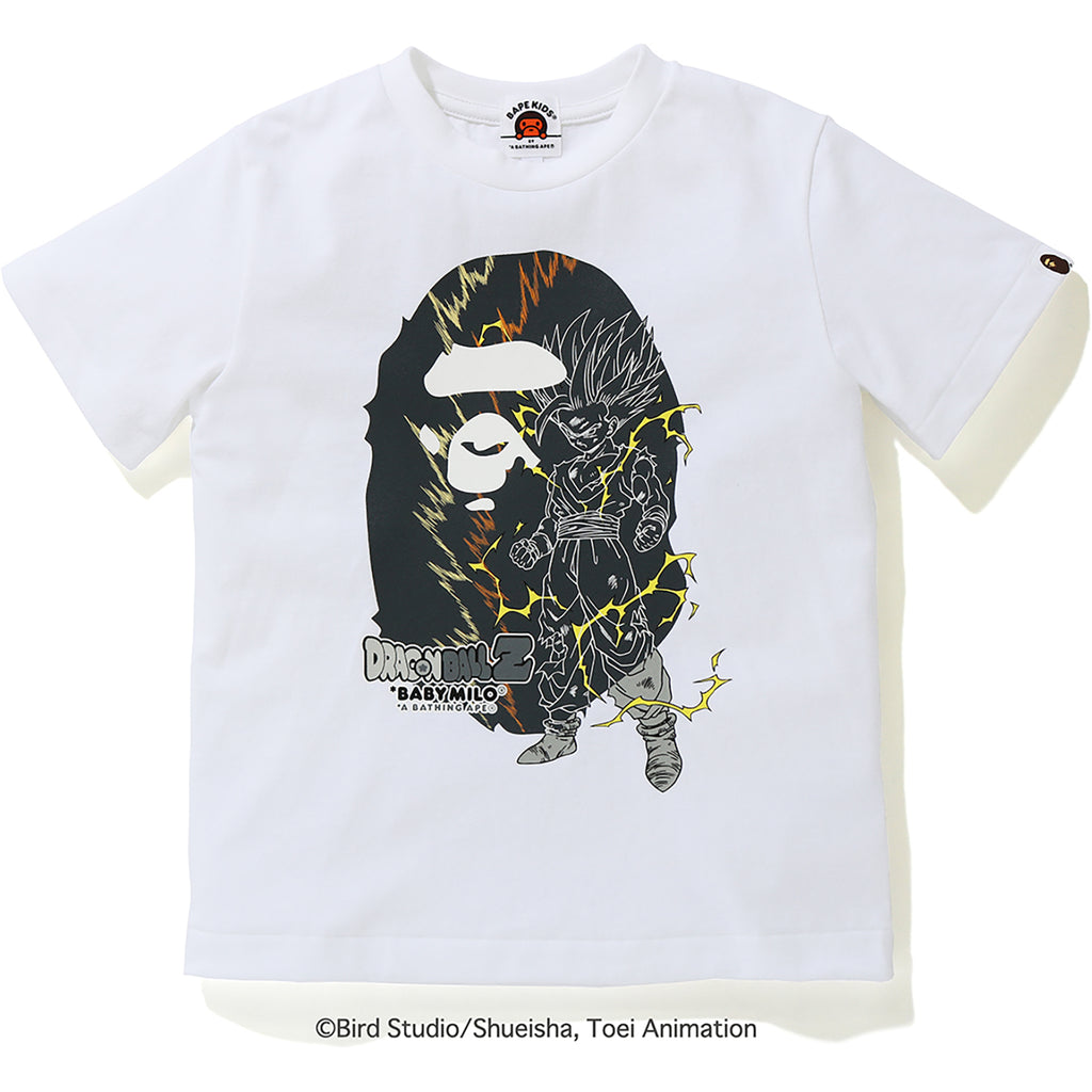 BAPE X DRAGON BALL Z SON GOHAN BIG APE HEAD TEE KIDS
