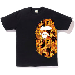 BAPE FLAME SIDE BIG APE HEAD TEE MENS