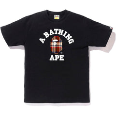 BAPE CHECK COLLEGE TEE MENS