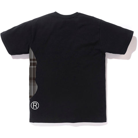 BAPE CHECK SIDE BIG APE HEAD TEE MENS
