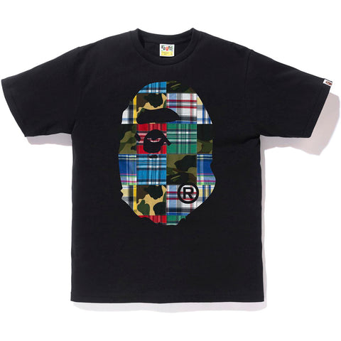 PATCHWORK BIG APE HEAD TEE MENS