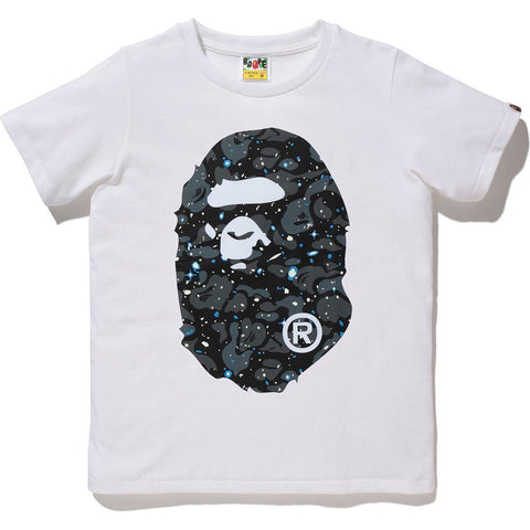SPACE CAMO BIG APE HEAD TEE LADIES
