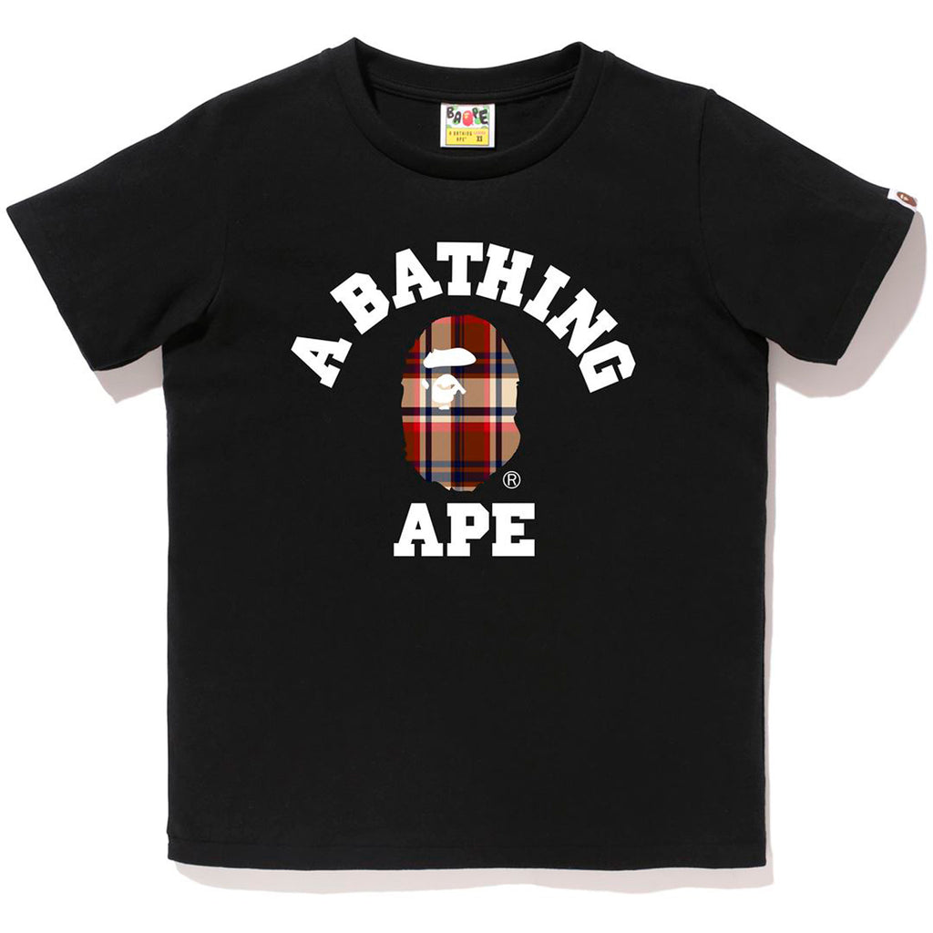 BAPE CHECK COLLEGE TEE LADIES