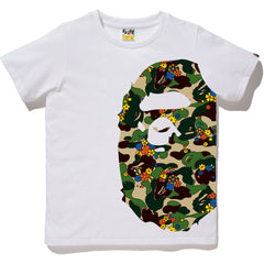 ABC CAMO FLOWER SIDE BIG APE HEAD TEE LADIES