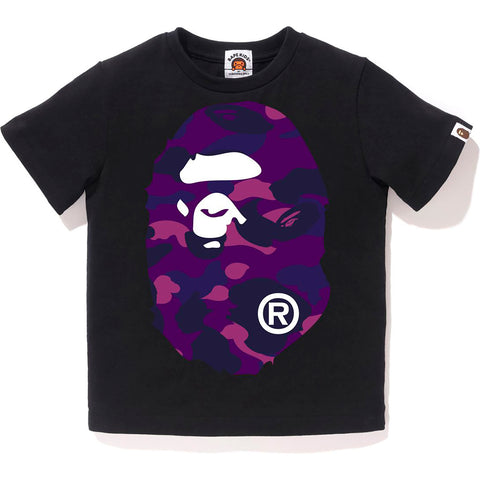 COLOR CAMO BIG APE HEAD TEE KIDS