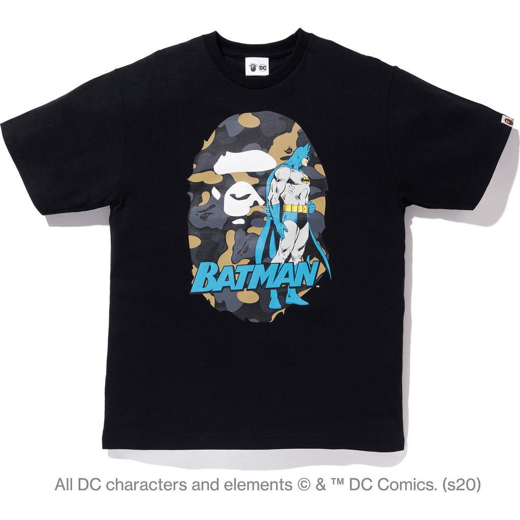 BAPE X DC MADISON AVENUE APE HEAD BATMAN TEE MENS