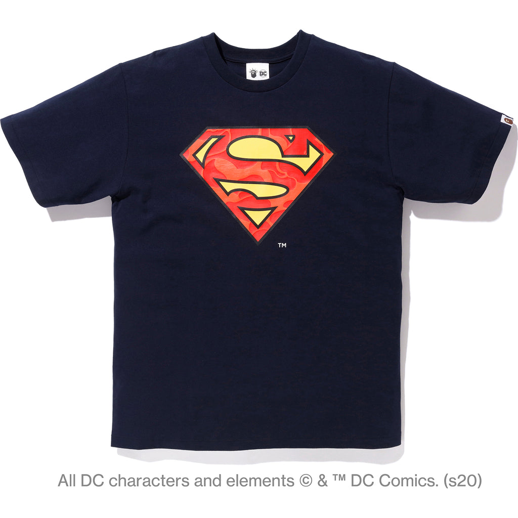 BAPE X DC MADISON AVENUE SUPERMAN TEE MENS