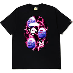 BAPE LIGHTNING BIG APE HEAD TEE MENS