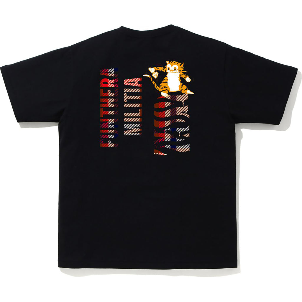 BAPE CHECK TIGER TEE MENS