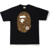 BAPE LEOPARD BIG APE HEAD TEE MENS
