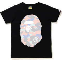 PASTEL MULTI CAMO BIG APE HEAD TEE LADIES