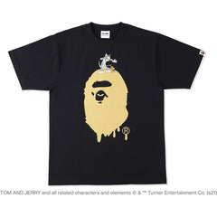 BAPE X TOM AND JERRY PAINTING MADISON AVENUE TEE MENS