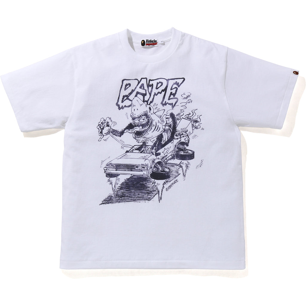 BAPE X READYMADE SHARK WIDE TEE MENS