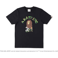 BAPE X TOM AND JERRY COLLEGE TEE LADIES