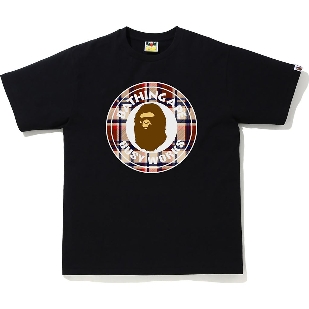 BAPE CHECK BUSY WORKS TEE MENS