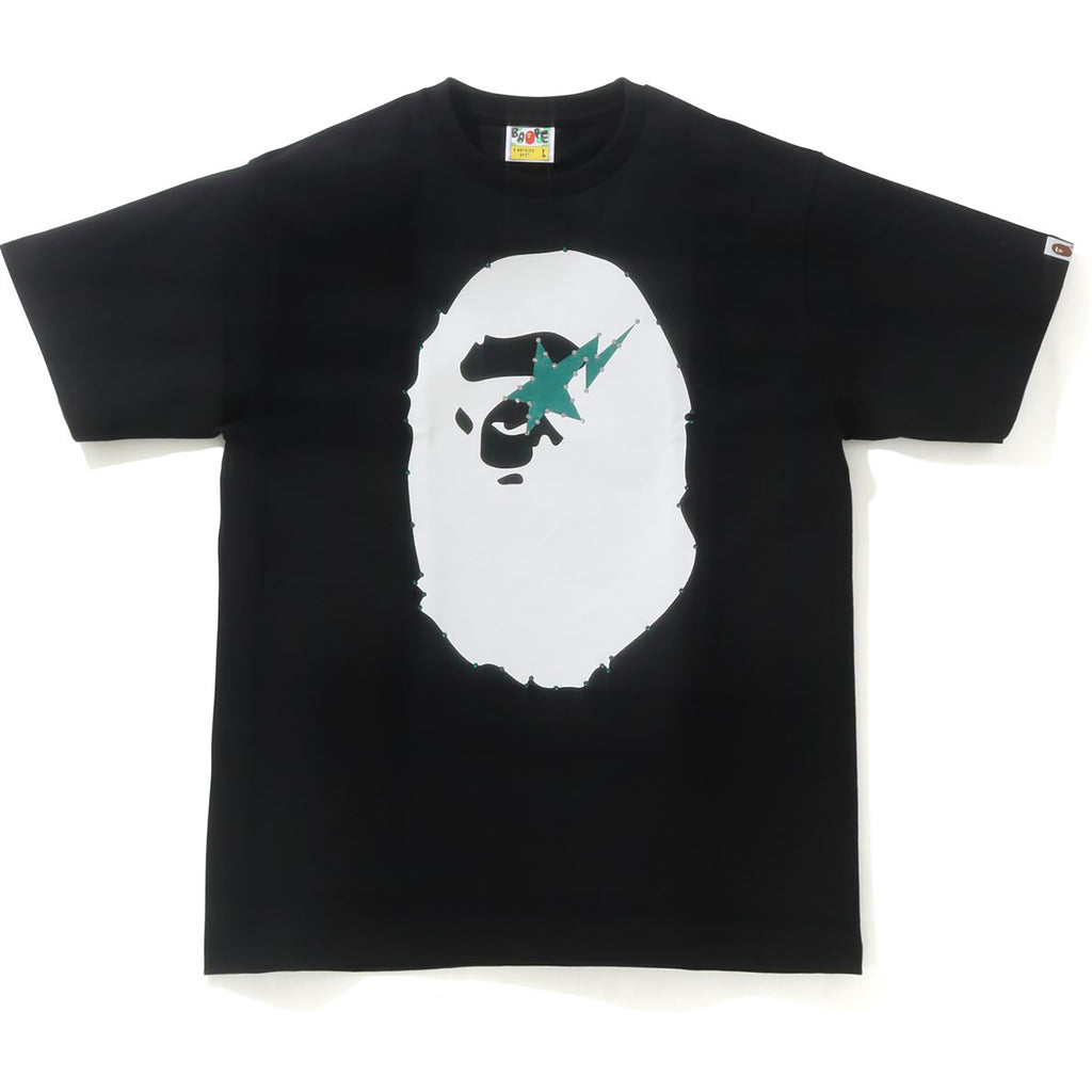 CRYSTAL STONE APE HEAD STA TEE MENS