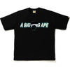 A BATHING APE BLUR RELAXED TEE MENS