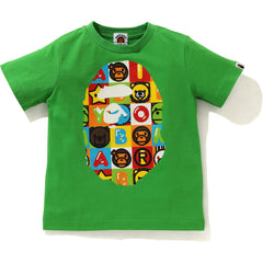 MILO FRIENDS BLOCK BIG APE HEAD TEE KIDS