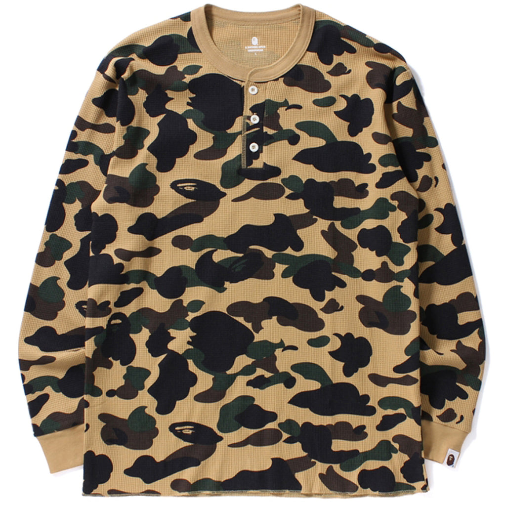 1ST CAMO HENLEY NECK THERMAL L/S