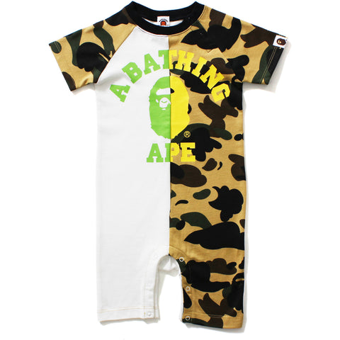 1ST CAMO COLLEGE NEON ROMPERS BABY