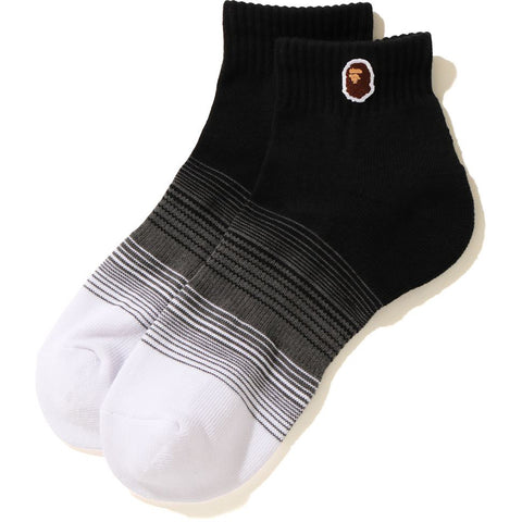 APE HEAD ONE POINT GRADATION ANKLE SOCKS MENS