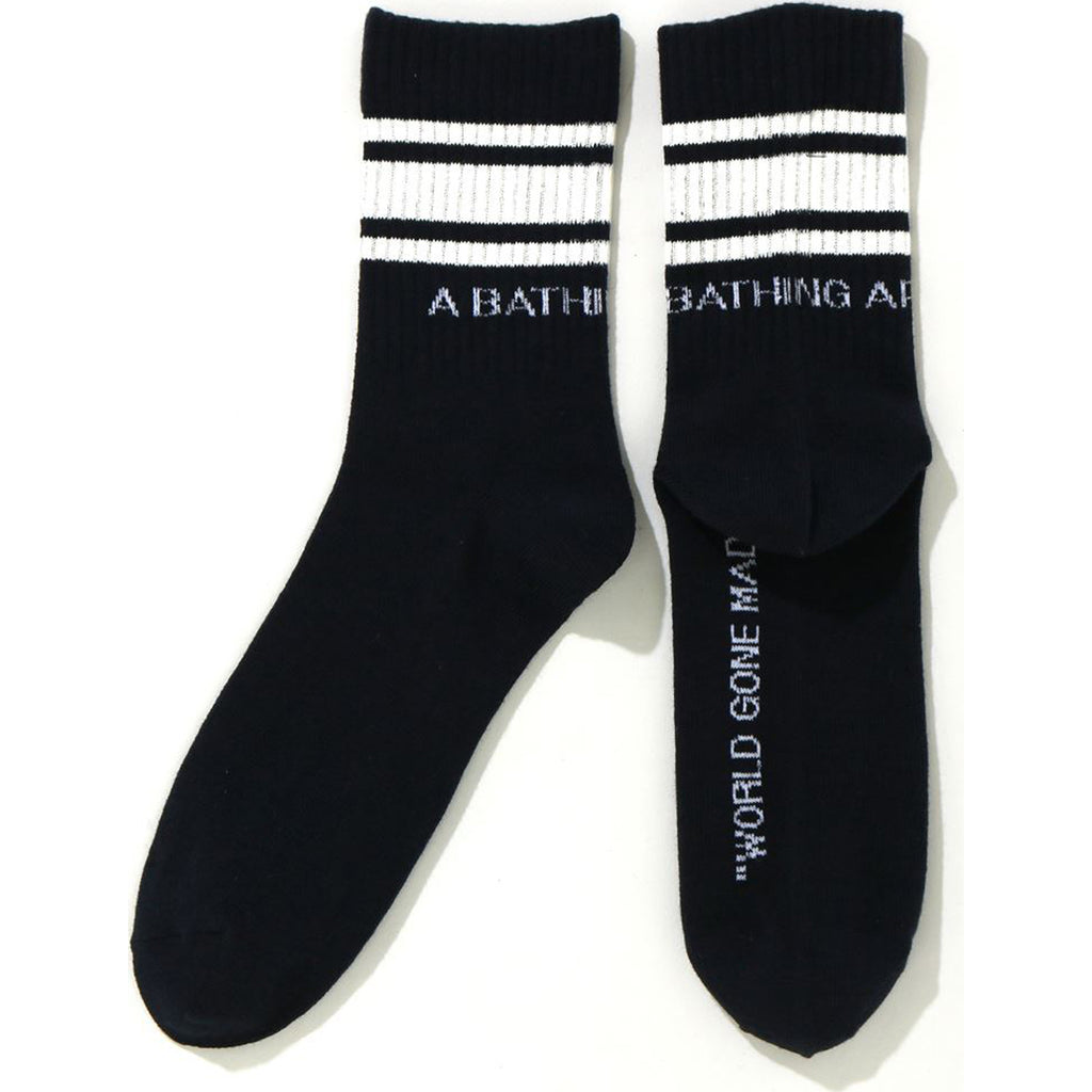 A BATHING APE LINE SOCKS LADIES