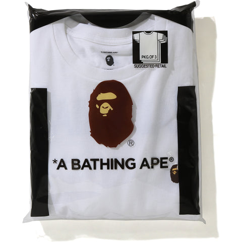 BAPE X READYMADE 3 PACK TEE MENS