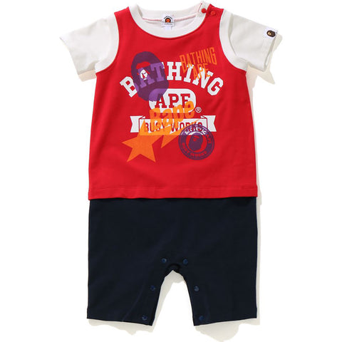 MULTI PRINT TANK TOP LAYERED ROMPERS KB KIDS