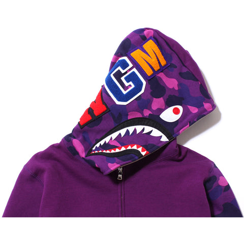 COLOR CAMO SHARK FULL ZIP HOODIE /AP