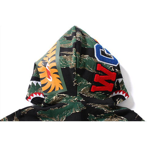 TIGER CAMO SHARK FULL ZIP HOODIE
