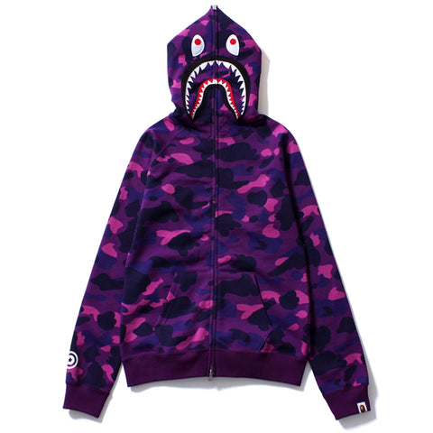COLOR CAMO SHARK FULL ZIP HOODIE/L