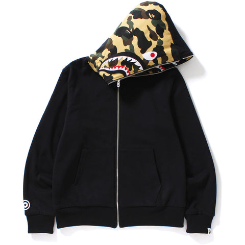 REVERSIBLE SHARK FULL ZIP HOODIE M