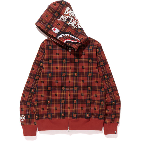 UNDEFEATED CHECK SHARK HOODIE MENS