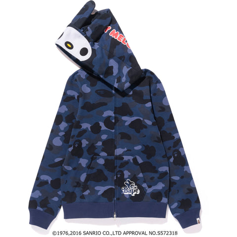 MY MELODY COLOR CAMO ZIP HOODIE LADIES